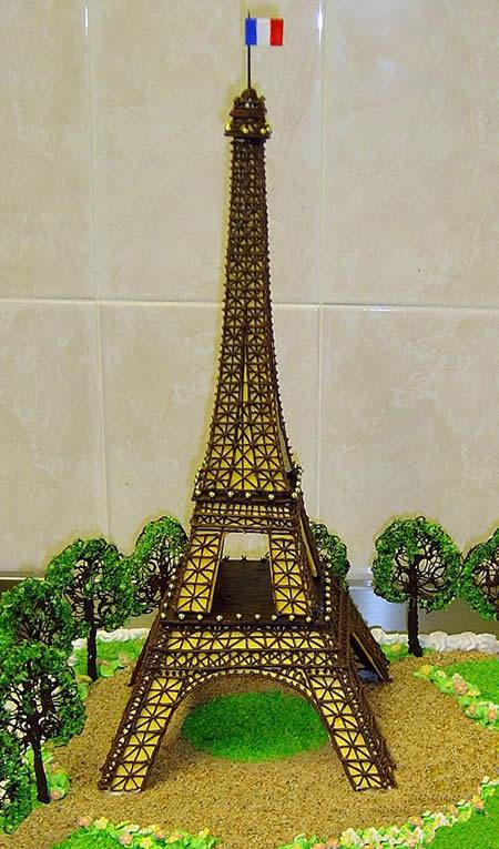 Фотографии торта с эйфелевой башней